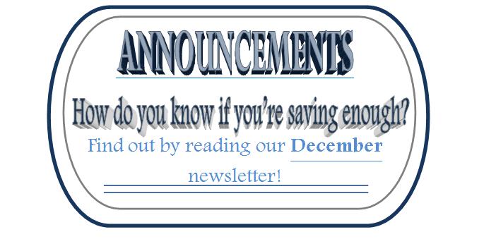 Dec 2017 Annoucement