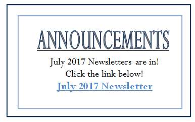 July 2017 Announcement