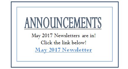 May  2017 Announcement