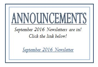 updated Sept Announcements