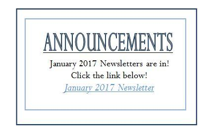 Jan 2017 Announcements